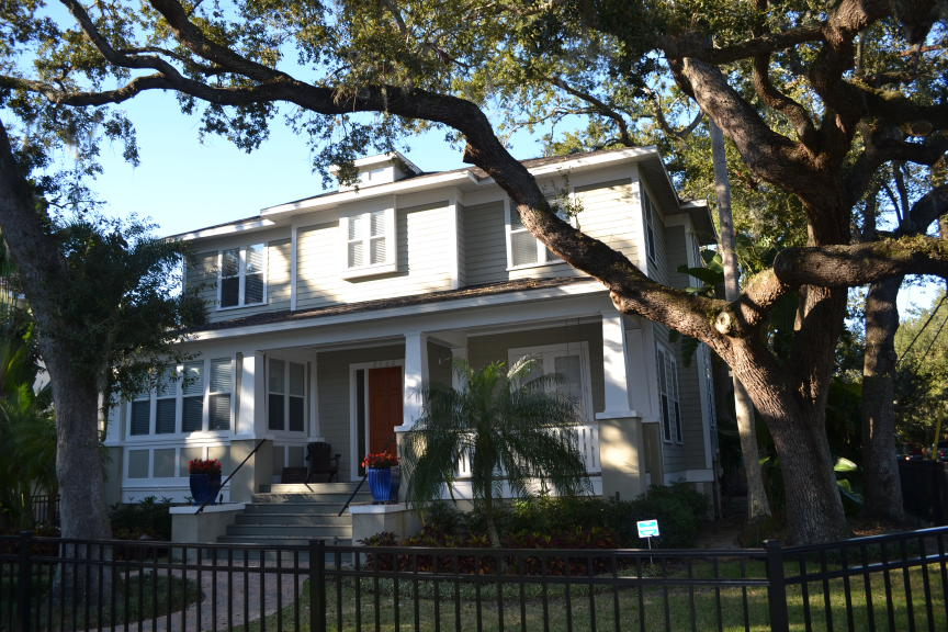 South Tampa Custom Home Gray