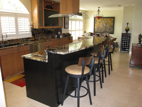 Custom Kitchen Island Bar