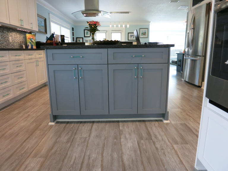Kitchen Island with Custom Hardware
